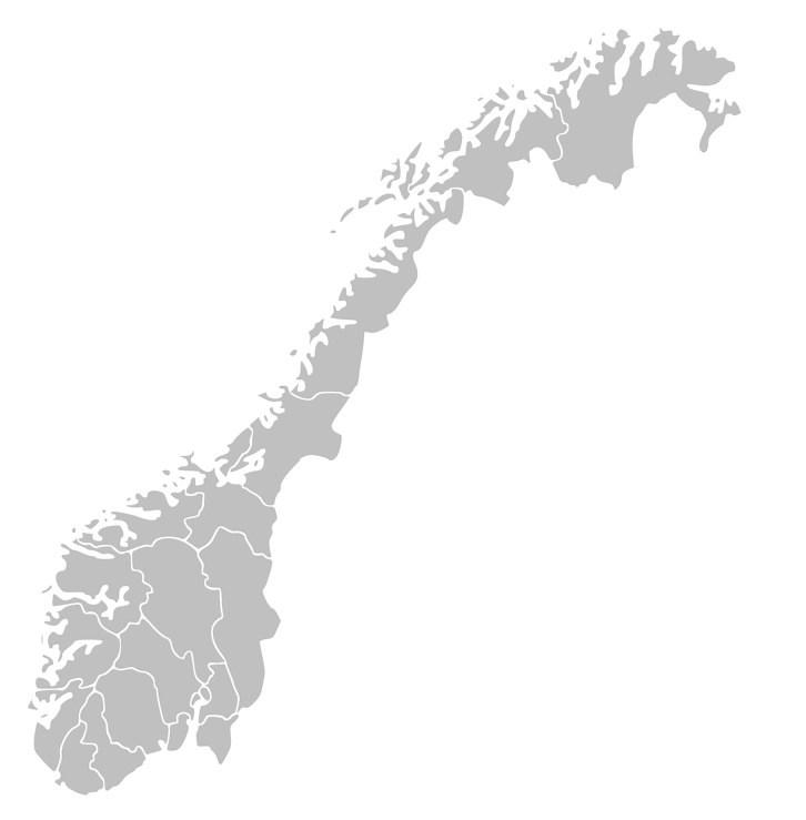 Kart over Norge. Kart.